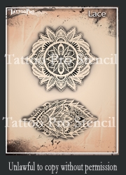 Wiser Pro Tattoo Stencils Lace And Pearls